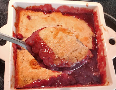 Easy Red Raspberry Cobbler
