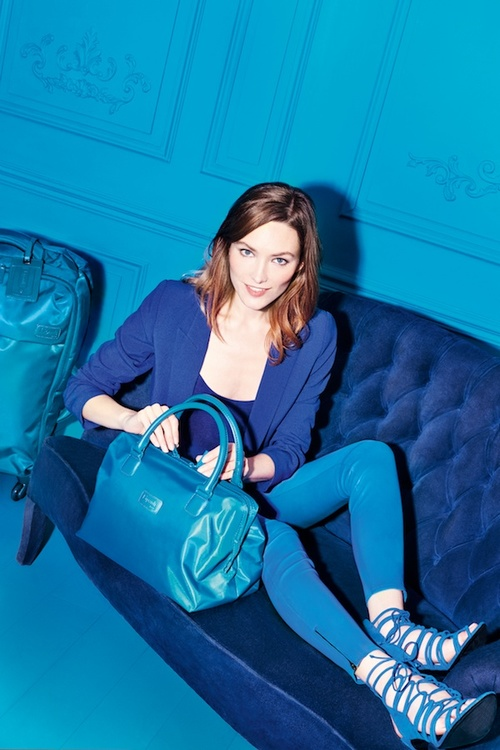 Lipault royal blue bowling bag on Fashion and Cookies fashion blog, fashion blogger