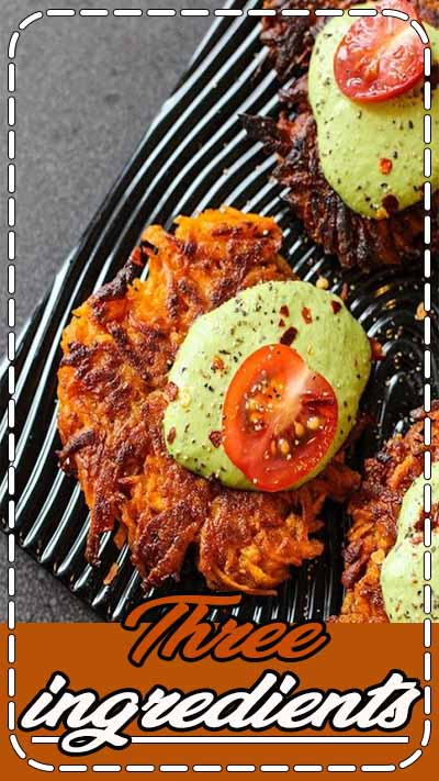Three ingredients, ten minutes! These spicy little sweet potato cakes will make you smile.