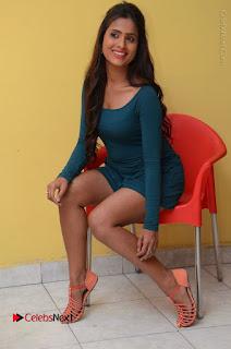Telugu Actress Prasanthi Stills in Green Short Dress at Swachh Hyderabad Cricket Press Meet  0091.JPG