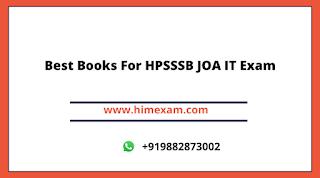 Best Books For HPSSSB JOA IT Exam