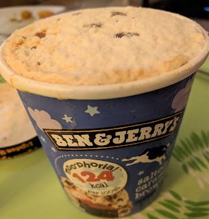 Ben & Jerrys salted caramel brownie light ice cream