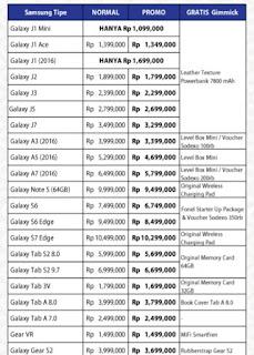 Daftar Harga Promo Samsung Erafone di Jakarta Fair 10 Juni - 17 Juli 2016