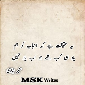 Best 60+ Munir Niyazi Poetry