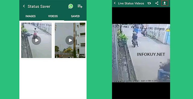 cara download status whatsapp dengan status saver