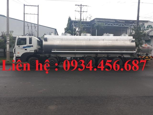 Xe bồn xitec nhôm 28 khối chở xăng dầu