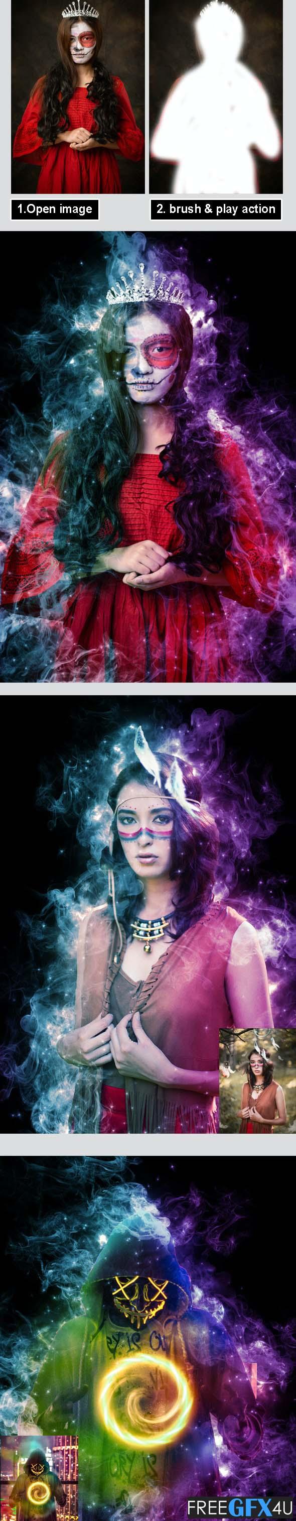Magic Dust Photoshop Action