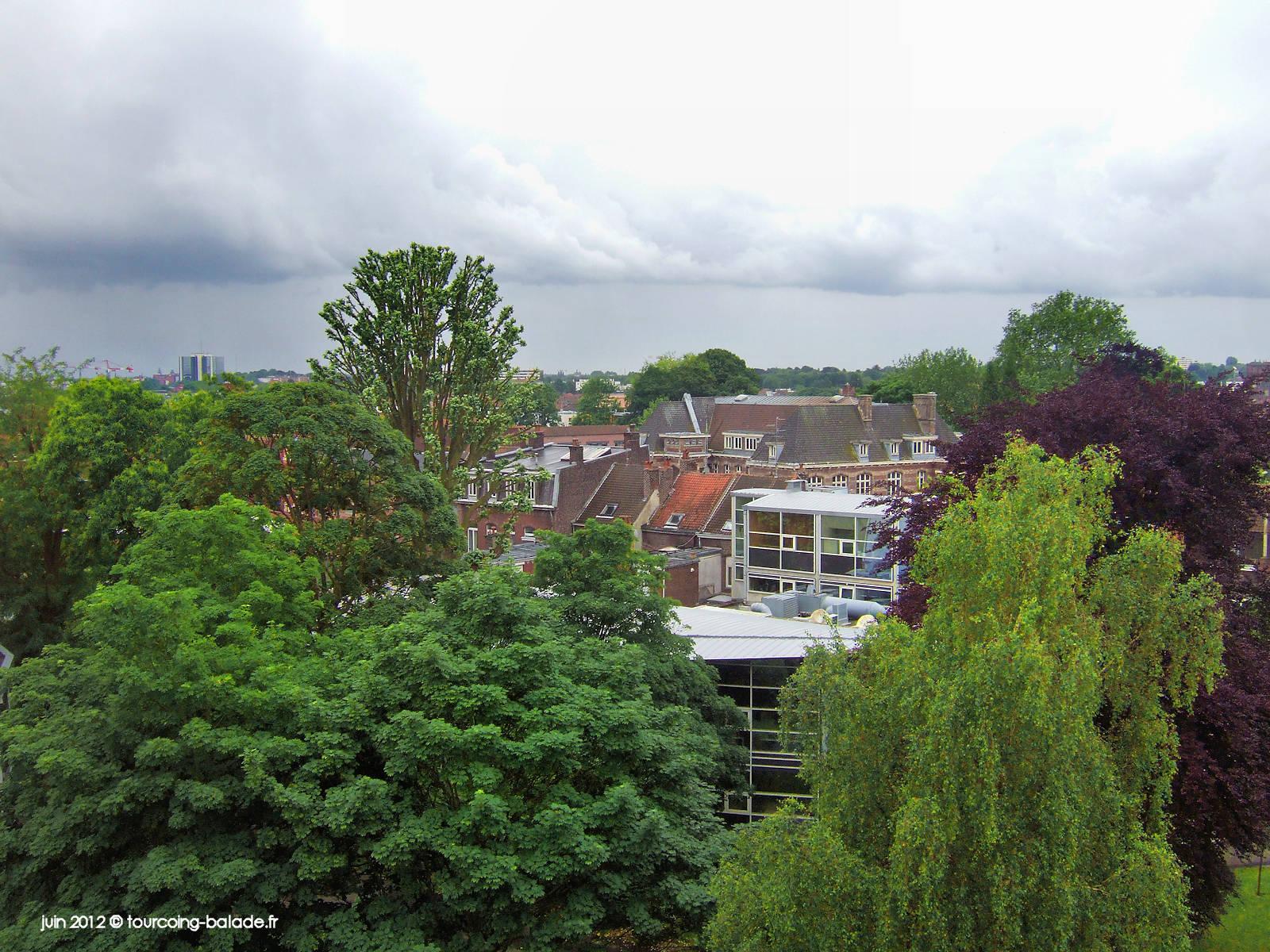 panorama de Tourcoing 2012 - Depuis le Lycée EIC.