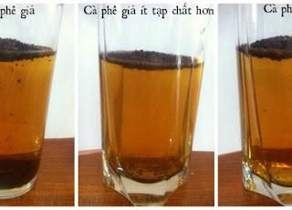 Cà phê bẩn cà phê hóa chất hại sức khỏe