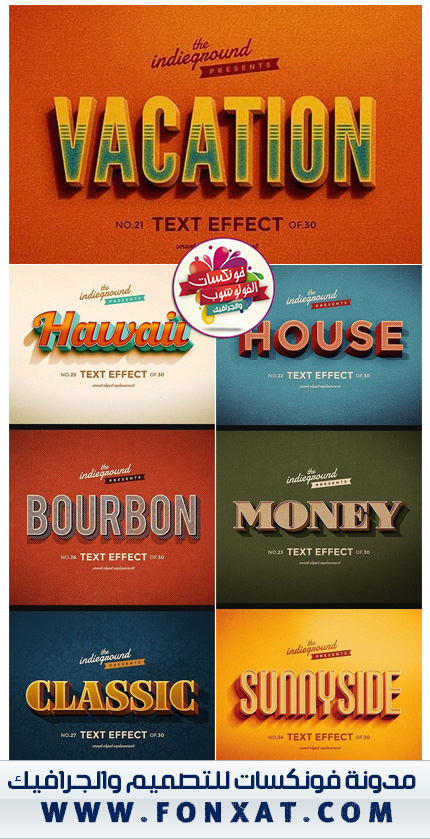 download Retro Vintage Text Effects Vol.3
