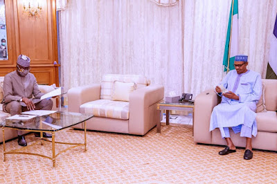 PHOTOS: President Buhari Receives Report From COVID-19 Task Force Team