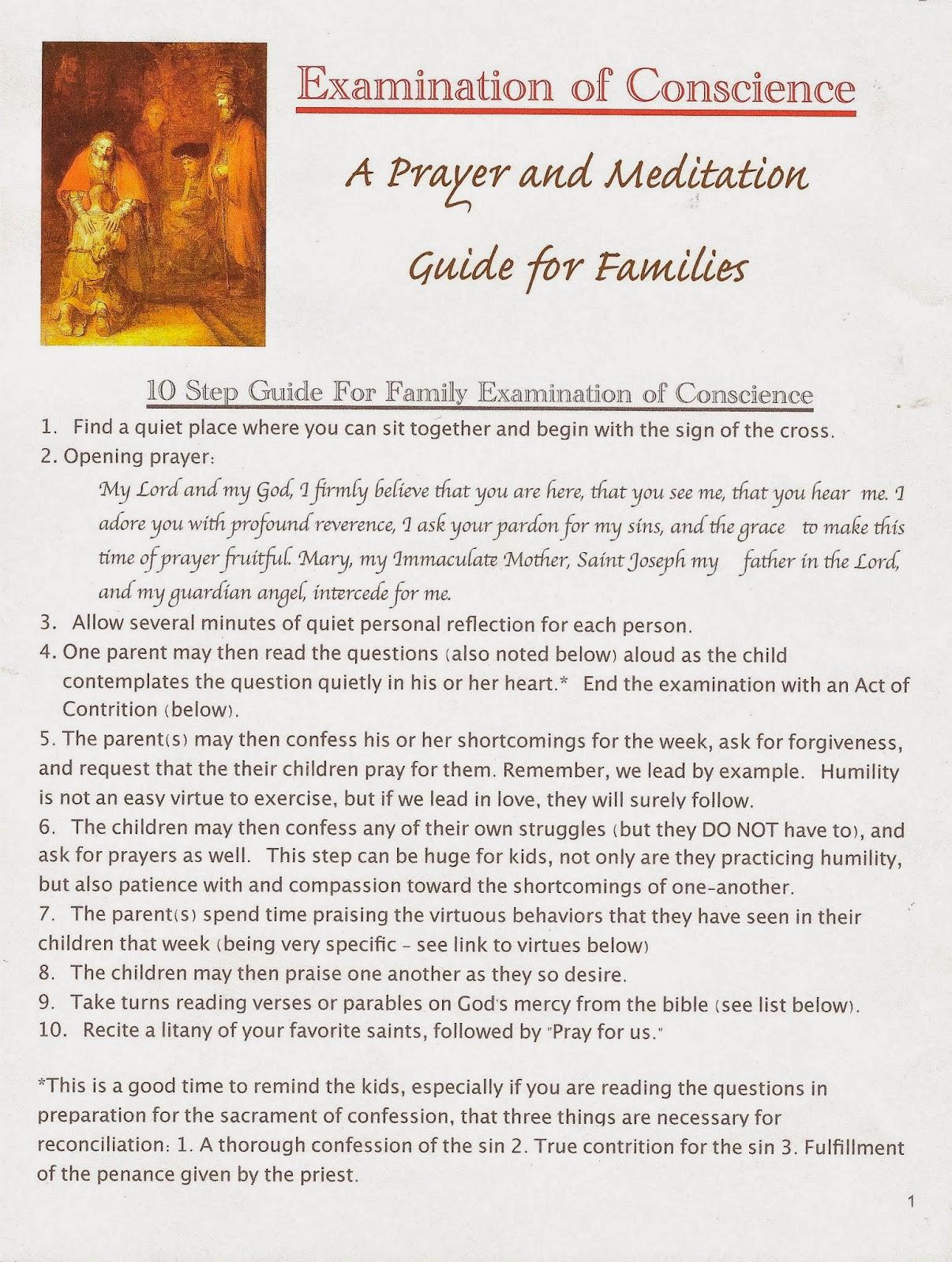 Act Contrition Prayer Kids