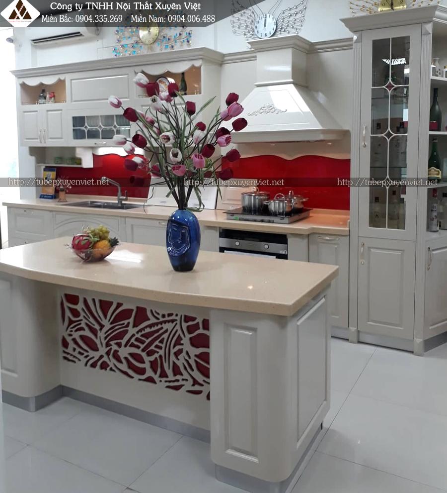 Mẫu tủ bếp tân cổ điển cao cấp