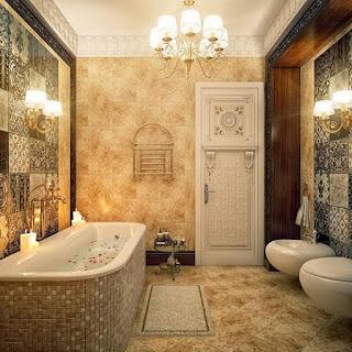 Osmanlı Motifleriyle Dizayn Edilmiş Banyo Örnekleri