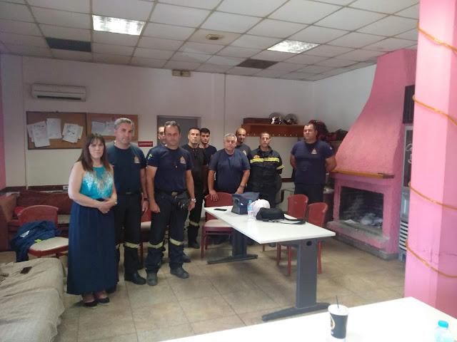 Επίσκεψη της Υποψήφιας βουλευτού με την ΝΔ Ελένης Παναγιωτόπουλου στην Πυροσβεστική Άργους