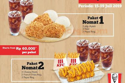 Promo KFC Paket Nomat Nongkrong Hemat Periode 15 - 19 Juli 2019