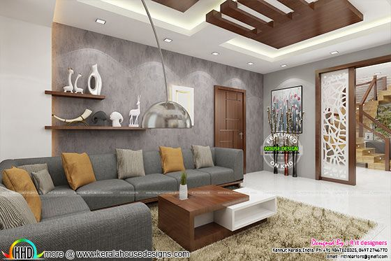 Posh living room interior