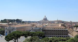 Michelangelo's dome dominates the Rome skyline