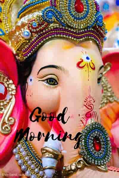 good morning god ganpati pictures for whatsapp