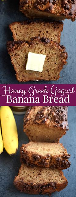 Honey Greek Yogurt Banana Bread recipe
