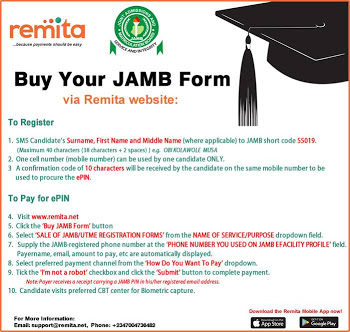 How To Buy 2018 JAMB Form On Remita