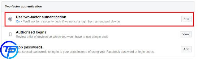 تفعيل خاصية التحقق بخطوتين احمي حساب الفيسبوك الان