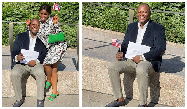 Congratulations to us- Actress Ajisefini celebrates her Husband as he becomes American Citizen