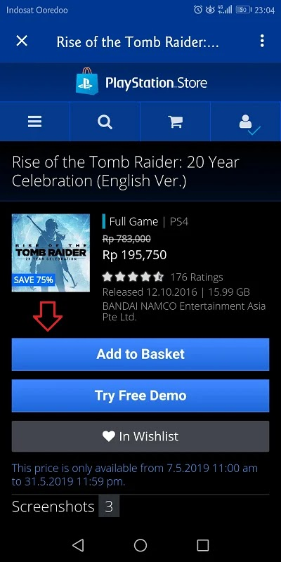 rise of the tomb raider diskon 75%
