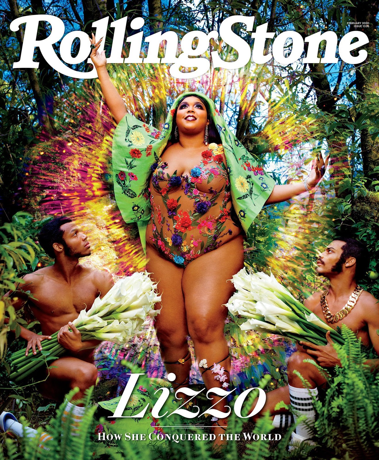 Lizzo Covers 'Rolling Stone' in Nearly Naked Floral Bodysuit