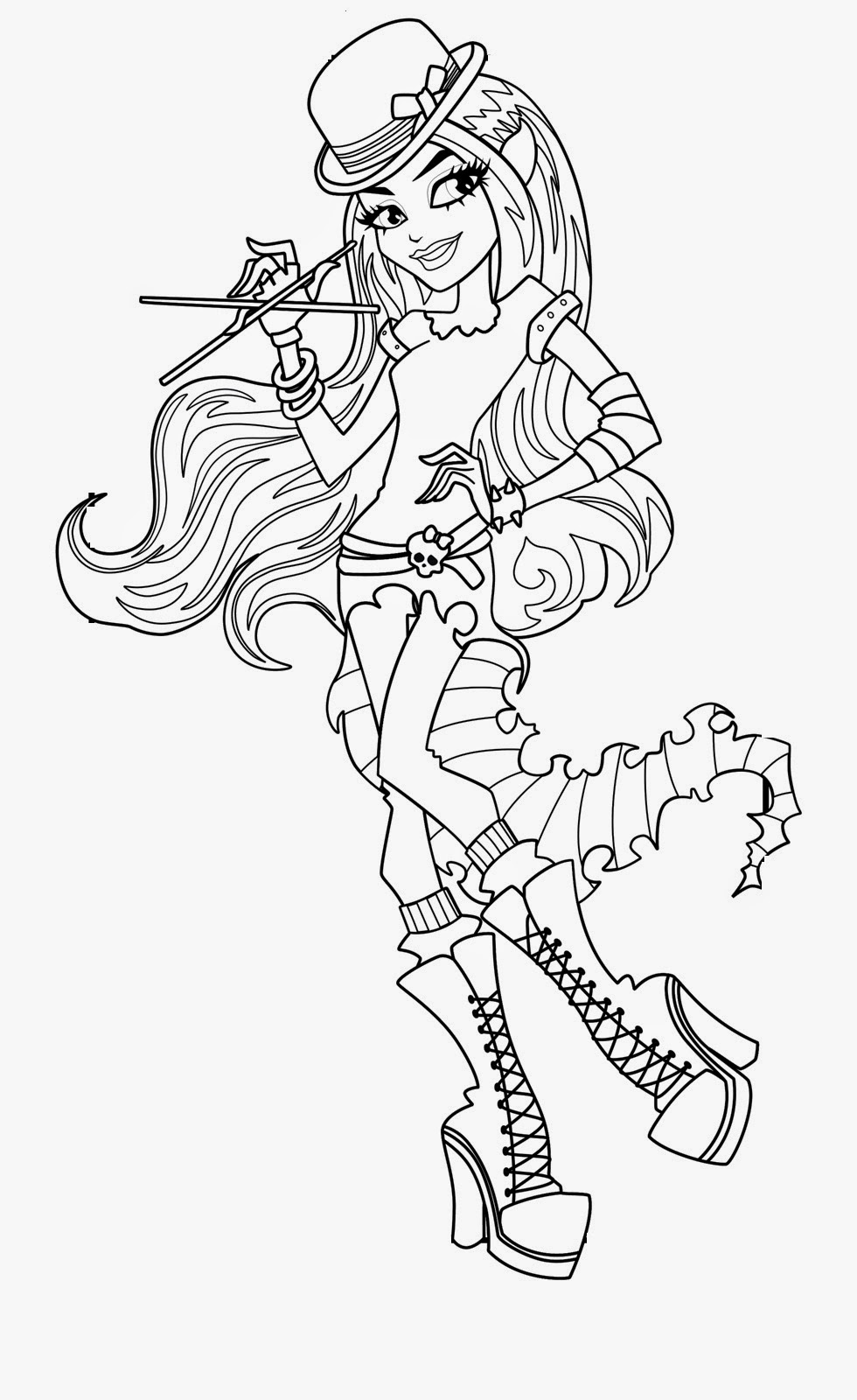Coloring Pages: Monster High Coloring Pages Free and Printable