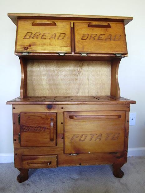 Foxglove Design Play Kitchen Bread Box Potato & Onion Bin