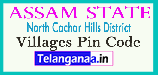 North Cachar Hills District Pin Codes in Assam State