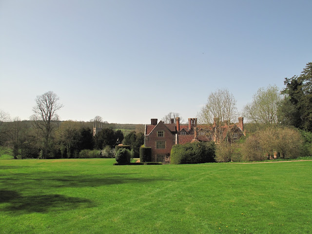 A back view of Chawton House.