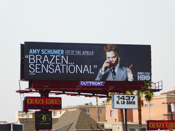 Amy Schumer Live at Apollo HBO Emmy 2016 billboard
