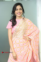 Actress Ritu Varma Pos in Beautiful Pink Anarkali Dress at at Keshava Movie Interview .COM 0048.JPG