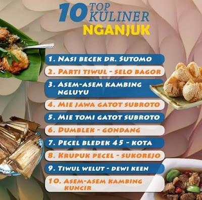 10 TOP KULINER NGANJUK
