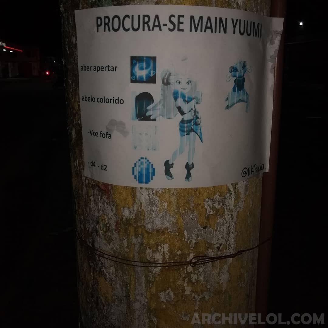 PROCURA-SE MAIN YUUMI