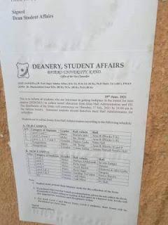 buk hostel notice