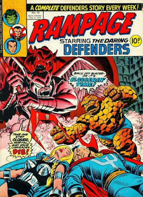 Rampage #19, the Defenders and the Thing