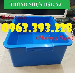 Thùng nhựa đặc A3, hộp nhựa công nghiệp, khay linh kiện 1a8c9c8aeb680c365579