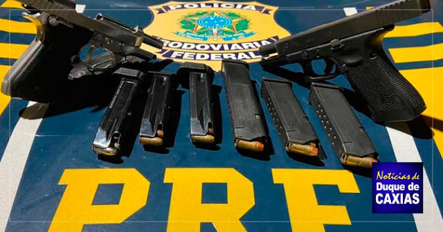 Polícia Rodoviária Federal prende quatro homens armados em Duque de Caxias
