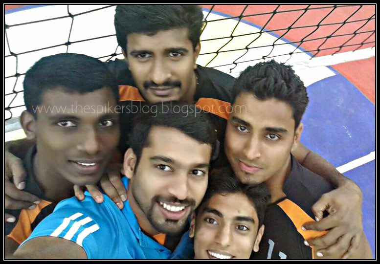 The Spikers Blog Kerala Volley Team Selfie From The Court