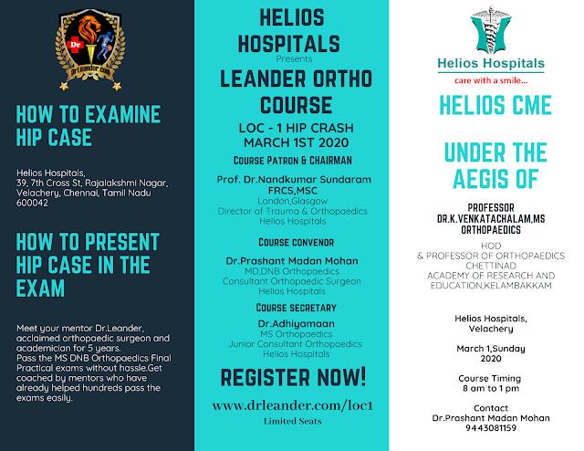 Helios CME Leander Orthopaedic postgraduate course 2020 march 1 loc1
