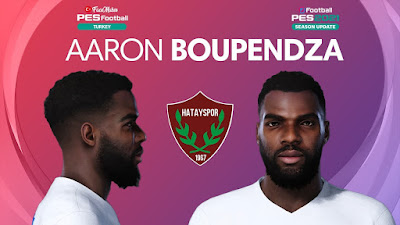 PES 2021 Faces Aaron Boupendza by PES Football Turkey