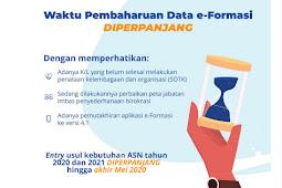 Data e-Formasi Kebutuhan ASN 2020/2021 Diperpanjang