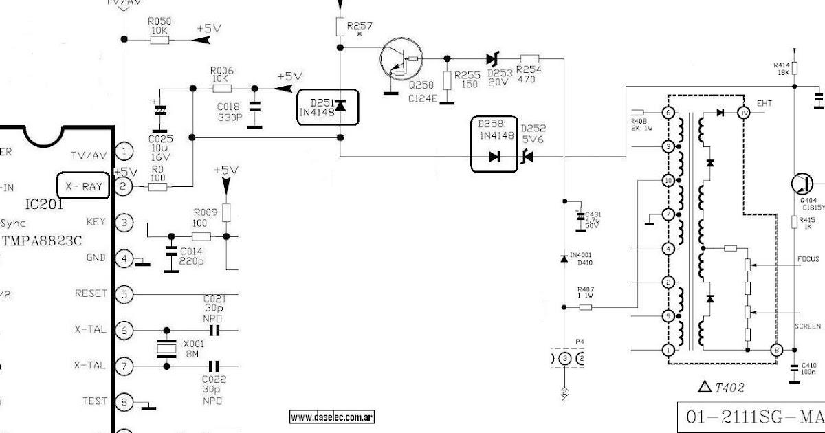 Electronika  El Software Para El T U00e9cnico Reparador  Chasis M123a  M123sp Se Apaga O Se Protege