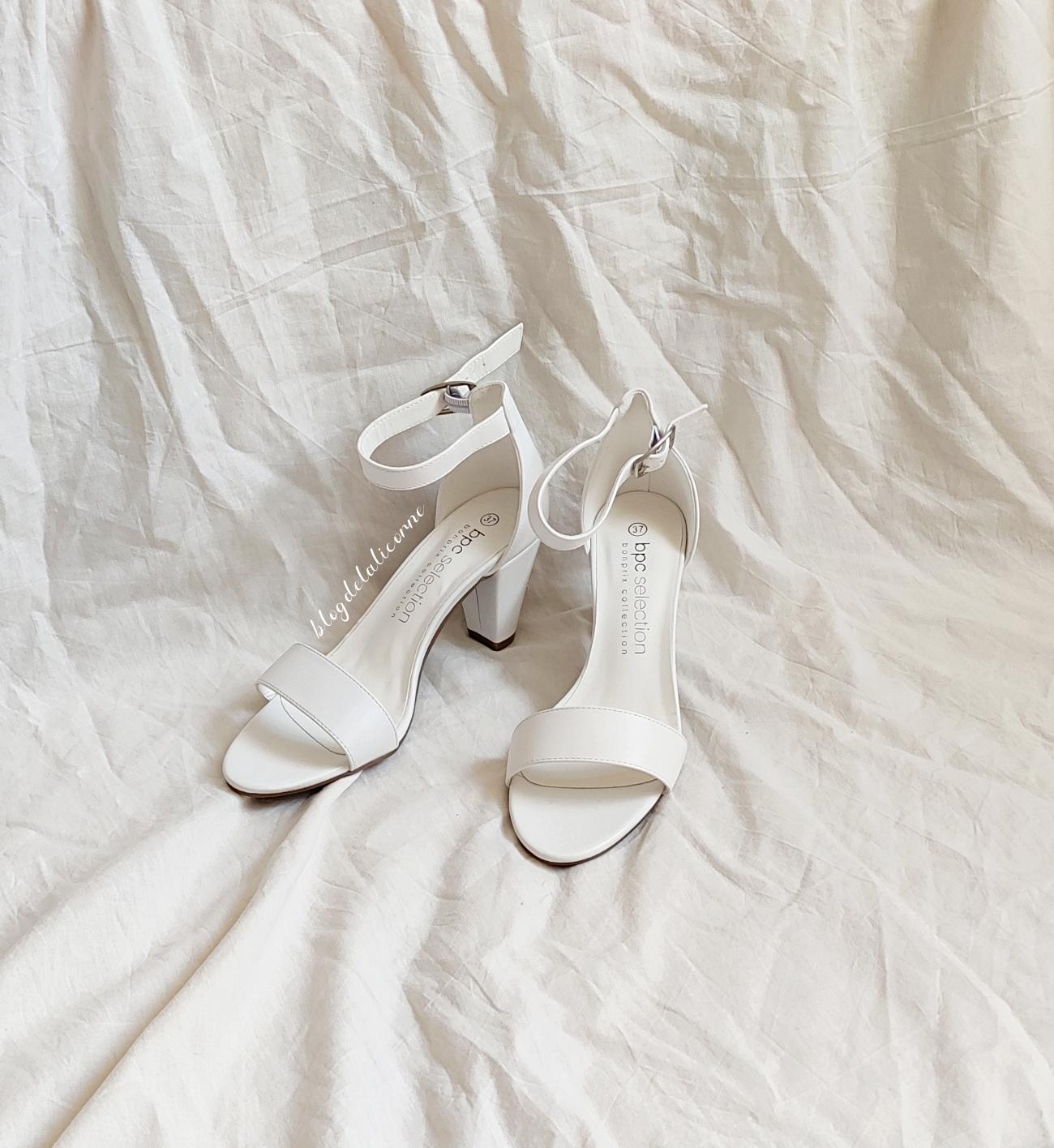 Bonprix biele sandále na nízkom podpätku recenzia