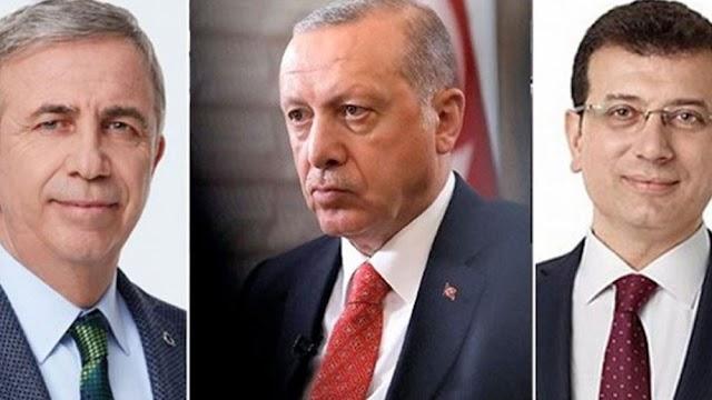 """Δημοσκόπηση: Οι δήμαρχοι Κων/πολης και Άγκυρας """"κλέβουν"""" την προεδρία από τον Ερντογάν"""