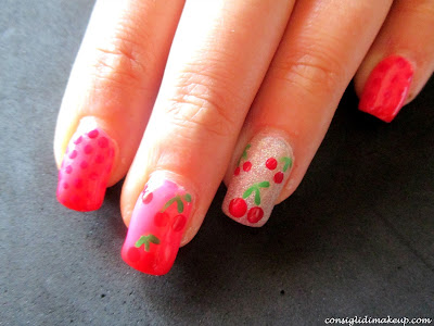 nail art frutta estate
