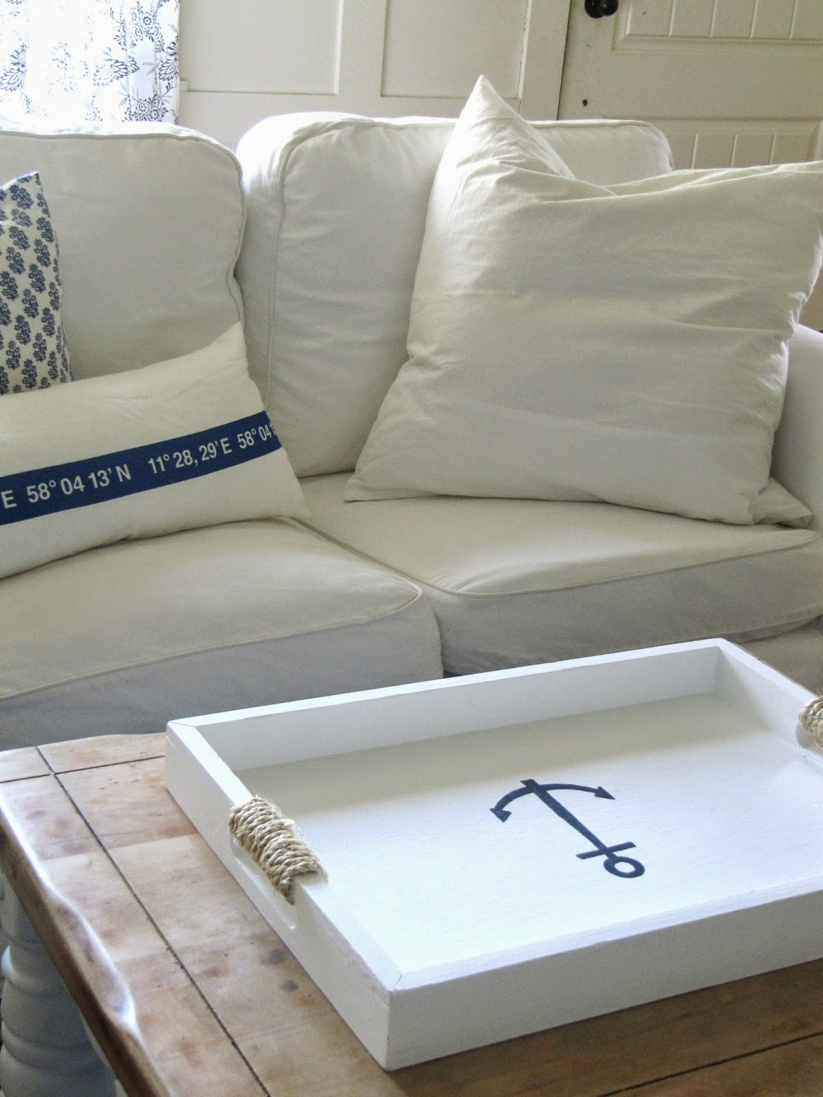 Nautical Tray Makeover The Wicker House